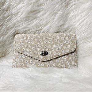 Handbags - Unbranded canvas floral embroidered clutch